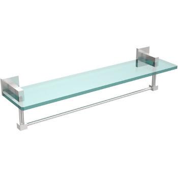 22'' Satin Chrome Hardware Shelf with Towel Bar