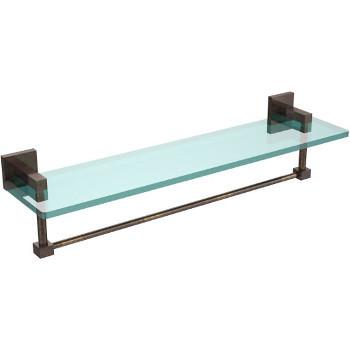 22'' Venetian Bronze Hardware Shelf with Towel Bar
