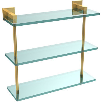 16'' Polished Brass Hardware Shelf