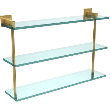 22'' Unlacquered Brass Hardware Shelf