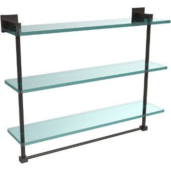22'' Oil Rubbed Bronze Hardware Shelf with Towel Bar