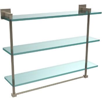 22'' Pewter Hardware Shelf with Towel Bar