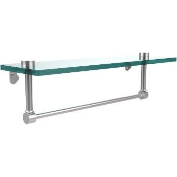 16'' Satin Chrome Hardware Shelf with Towel Bar