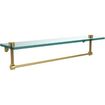 22'' Polished Brass Hardware Shelf with Towel Bar