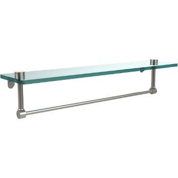 22'' Satin Nickel Hardware Shelf with Towel Bar