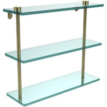 16'' Satin Brass Hardware Shelf