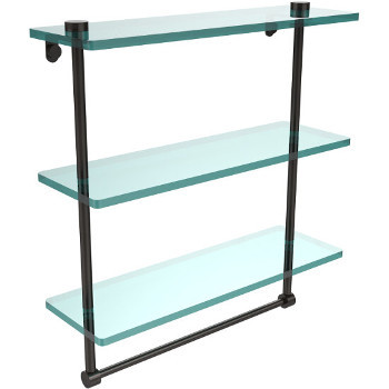 16'' Oil Rubbed Bronze Hardware Shelf with Towel Bar
