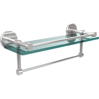 16'' Polished Chrome Hardware Shelf with Towel Bar