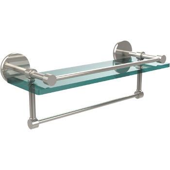 16'' Polished Nickel Hardware Shelf with Towel Bar