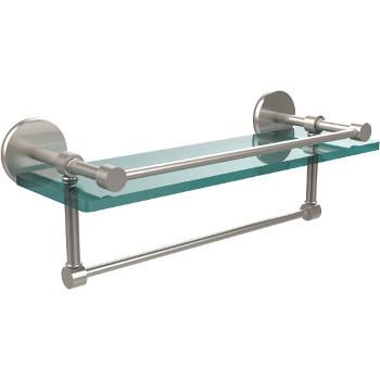 16'' Satin Nickel Hardware Shelf with Towel Bar