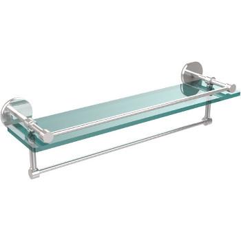 22'' Polished Chrome Hardware Shelf with Towel Bar