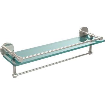 22'' Polished Nickel Hardware Shelf with Towel Bar