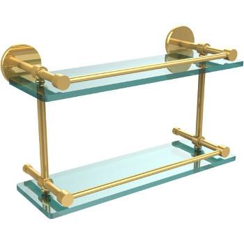16'' Polished Brass Hardware Shelves