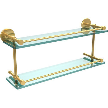 22'' Polished Brass Hardware Shelves