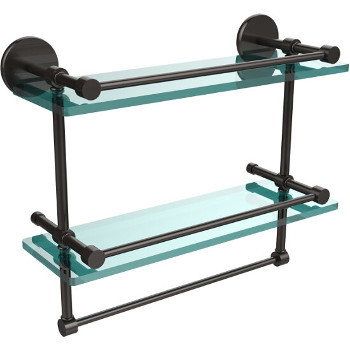 16'' Oil Rubbed Bronze Hardware Shelves with Towel Bar
