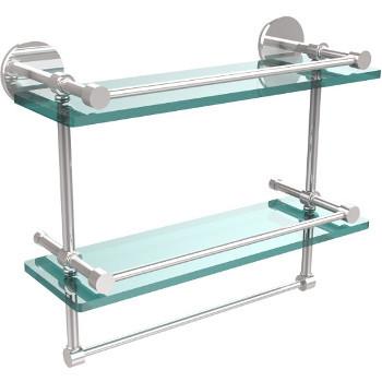 16'' Polished Chrome Hardware Shelves with Towel Bar