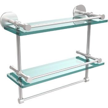 16'' Satin Chrome Hardware Shelves with Towel Bar