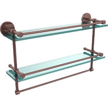 22'' Antique Copper Hardware Shelves with Towel Bar
