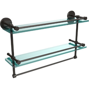 22'' Oil Rubbed Bronze Hardware Shelves with Towel Bar
