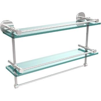 22'' Polished Chrome Hardware Shelves with Towel Bar