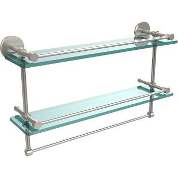 22'' Satin Nickel Hardware Shelves with Towel Bar