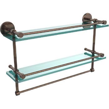 22'' Venetian Bronze Hardware Shelves with Towel Bar