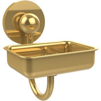 Allied Brass Prestige Skyline Collection Soap Dish w/Glass Liner, Standard Finish, Polished Brass
