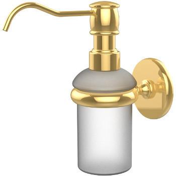 Allied Brass Prestige Skyline Collection Wall Mounted Soap Dispenser, Standard Finish, Polished Brass