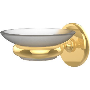 Allied Brass Prestige Skyline Collection Wall Mounted Soap Dish, Standard Finish, Polished Brass