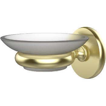 Allied Brass Prestige Skyline Collection Wall Mounted Soap Dish, Premium Finish, Satin Brass