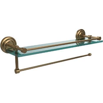 Allied Brass QN-33//24-SCH Que New Collection 24 Inch Glass Shelf Satin Chrome