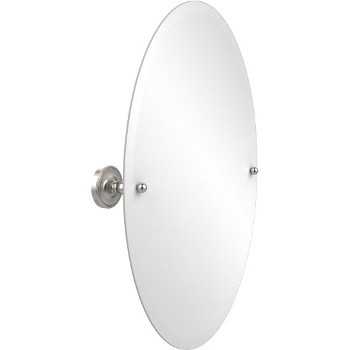 Oval Mirror with Satin Nickel Hardware