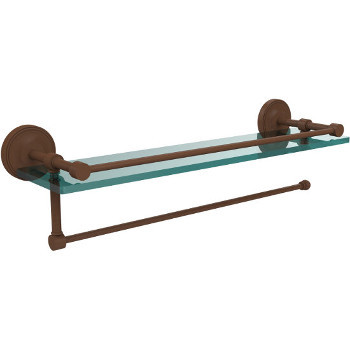 22'' Shelves with Antique Bronze and Paper Towel Roll Holder