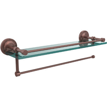 22'' Shelves with Antique Copper and Paper Towel Roll Holder
