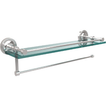 22'' Shelves with Polished Chrome and Paper Towel Roll Holder