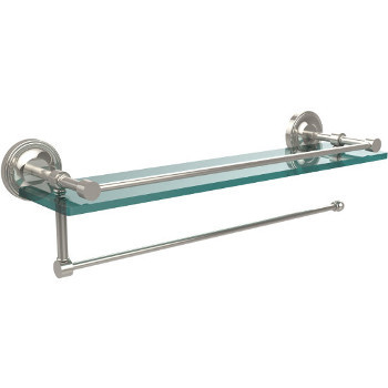 22'' Shelves with Polished Nickel and Paper Towel Roll Holder