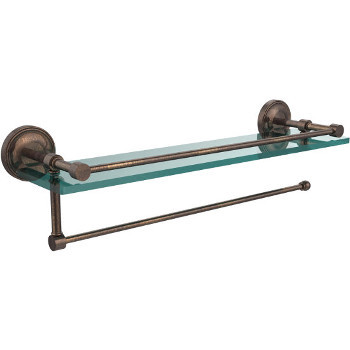 22'' Shelves with Venetian Bronze and Paper Towel Roll Holder