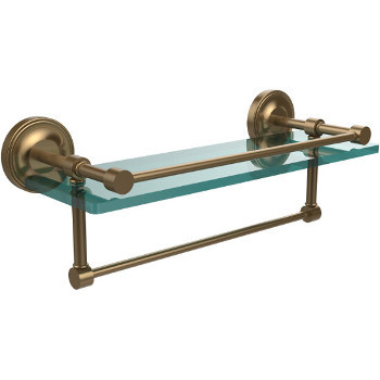 16'' Shelves with Brushed Bronze and Towel Bar
