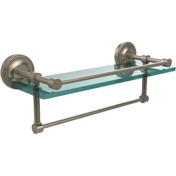16'' Shelves with Pewter and Towel Bar