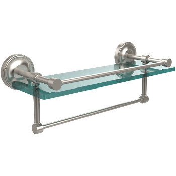 16'' Shelves with Satin Nickel and Towel Bar
