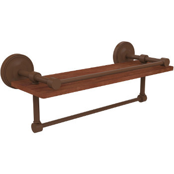 16'' Shelves with Antique Bronze and Towel Bar