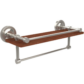 16'' Shelves with Polished Nickel and Towel Bar