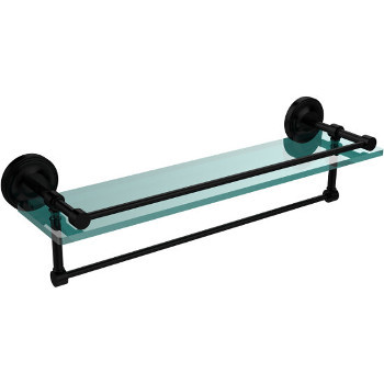 22'' Shelves with Matte Black and Towel Bar