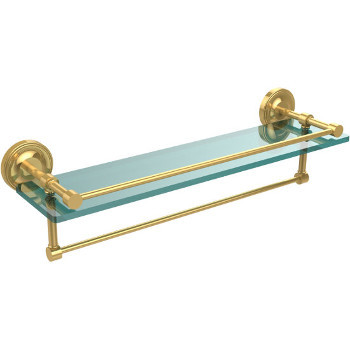 22'' Shelves with Polished Brass and Towel Bar