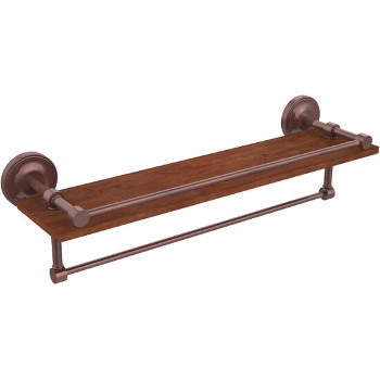 22'' Shelves with Antique Copper and Towel Bar
