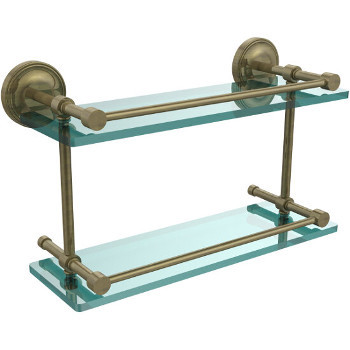 16'' Shelves with Antique Brass