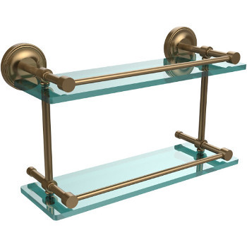 16'' Shelves with Brushed Bronze