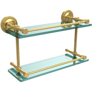 16'' Shelves with Polished Brass