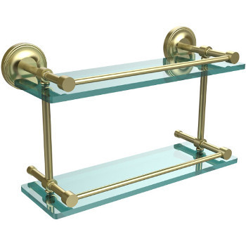 16'' Shelves with Satin Brass