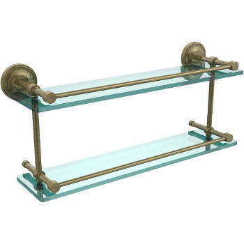 22'' Shelves with Antique Brass